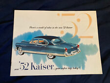 1951 Kaiser Traveler Deluxe and Special Color Brochure Catalog Prospekt
