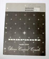 MARANTZ MODEL 3200 SERVICE MANUAL ORIGINAL PAPER