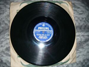 STRANGE LADY IN TOWN / THE TARRIER SONG FRANKIE LAINE PHILIPS PB 478 78 Rpm