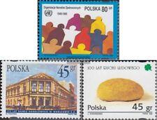 Polen 3545,3546,3547 (compleet Kwestie) gestempeld 1995 VN, Handelsbank, Bauernb