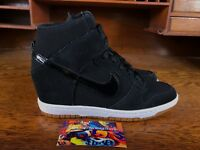 Nike Dunk Sky Hi Essential Wedge Heel Womens Shoe Black Gum 644877 011 ALL SZS