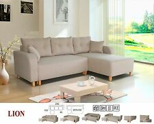 lion universal corner L-shaped fabric sofa, bed, storage, grey pink blue beige