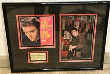 "Elvis Presley SIGNED 45 Record ""I Beg of You"" w/ Backstage Photo. COA Included"