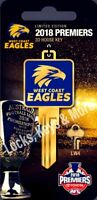 West Coast Eagles 2018 Premiers LIMITED EDITION House Key Blank-PRE ORDER ONLY.