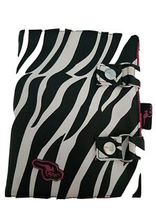 Zebra Design Large Makeup Brushes Nail Manicure Wrap Pen Roll Leather Gift Idea