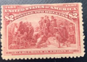 1893 Columbian 2 dollar US Stamp #242 MHH