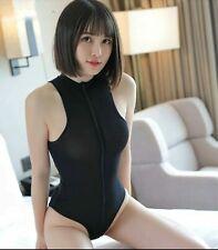 New Sheer Body in Black - Size UK 8-12 - Nylon Spandex Party Streetwear Bodysuit