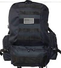 Military Molle Assault Tactical Backpack Black Large Rucksack Backpack RT 508