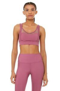 ALO Yoga dragonfruit pink bra NWOT Sz M
