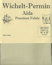 "Wichelt Imports Premium Cross Stitch Fabric Aida 16ct 18"" X 25"" Water Lily"