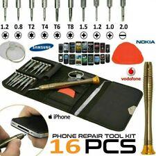 16 in 1 Mobile Phone Repair Tool Kit Screwdriver Set iPhone iPad iPod Samsung UK