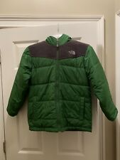 North Face Jacket Reversible Big Youth Large Green Fleece Puffer