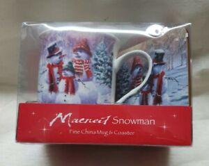 BNIB MacNeil Snowman Mug and Coaster Set