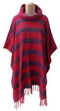 Lagenlook Autumn Winter Wool Poncho Cape Shawl Kaftan Jacket Size 10 12 14 16