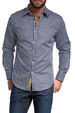 Gestreifte Maschinenwäsche Klassische Herrenhemden im Kentkragen-Stil aus Baumwolle