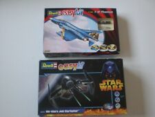 REVELL EASYKIT 06643 F-4F PHANTOM & 06651 OBI-WAN,S JEDI STARFIGHTER ,See Pics.