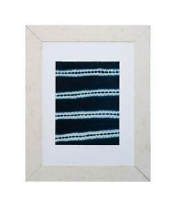 Indigo Textile Art - Framed Textile Art - Vintage Decorative Art