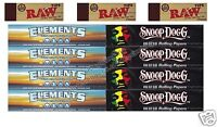 Elements King Size Rolling Papers And Snoop Dog Kingsize Paper And Raw Tips Set