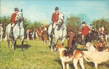 An English hunting scene dogs and horses riders