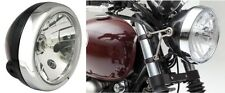 Front Headlight Black/Chrome Cafe Racer Scrambler Special Harley Yamaha BMW