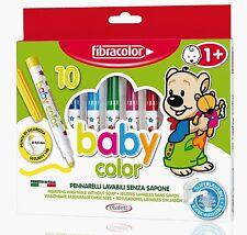 Fibracolor Baby Color Fibre Colouring Pens Super Washable - Pack Of 10
