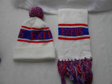MONTREAL EXPOS TOQUE WINTER HAT + SCARF BASEBALL MLB .