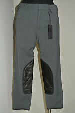 Prada Anthracite Stretch  Slim Cropped Pant Sz:38 NEW