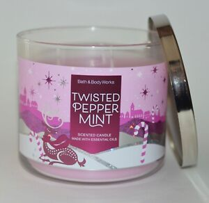 Bath & Body Works Entortillé Menthe Bougie Parfumée 3 Wick 429ml Grand Rose