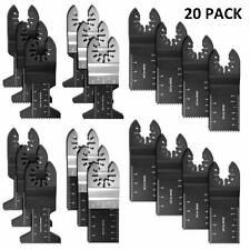 High Precision 20pc Wood/Bi-Metal Oscillating Multitool Quick Release Saw Blades