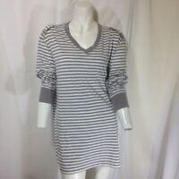 G by Guess Women's Striped Long Sleeve Shirt XL