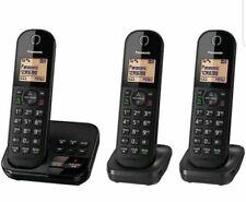 Panasonic Tgc423eb Triple DECT Digital Cordless Phone With Answer Machine
