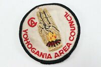 Vintage Yohogania Area Council Round Twill T BSA Boy Scout of America Camp Patch