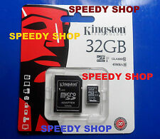 Micro SD 32GB Scheda di Memoria 45MB/s Class 10 Kingston MicroSD SDHC Card 32 GB