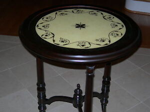 Maitland Smith Antique Aubergine Glass Top Occasional End Accent Side Table