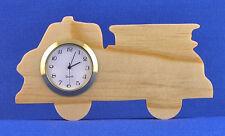 Fire Truck Mini Clock - Hand cut w/ choice of insert