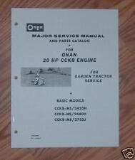 ONAN  CCKB - MS  SPECS H & J SERVICE MANUAL 927-0251