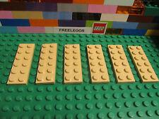 Lego 3795 Tan 2x6 Plate Plates 2 x 6 - Qty x 6 Pcs per Order