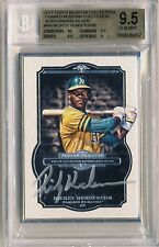 RICKEY HENDERSON 2014 Topps Museum Collection FRAMED SILVER AUTO 10/10 BGS 9.5*