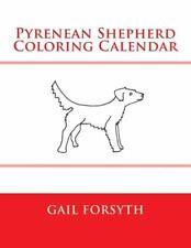 Pyrenean Shepherd Coloring Calendar