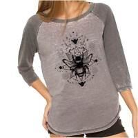 Hard Core Crop Raglan Tee T-shirt Top Cropped Funny Avocado Rock and Roll Punk