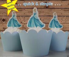 Cinderella Disney Princess #2  EDIBLE wafer cupcake cake toppers STAND UP