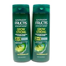 2 x Garnier Fructis Grow Strong Fortifying 2 in 1 Shampoo/Conditioner 12.5 oz