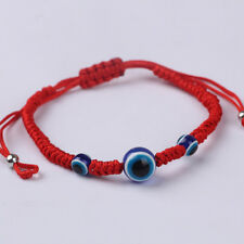 Lucky Red Rope String Thread Women Resin Beads Blue Eyes Couples Lovers Bracelet