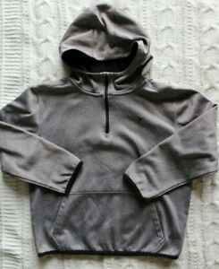 Boys Old Navy Active Go-Dry Gray Long Sleeve 1/4 Zip Hoodie Size M (8)