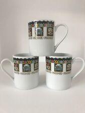 Mary Engelbreit 2001 Enesco Love Home Family Friend Tea Coffee Mug Set Of 3