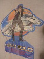 VTG 83 Han Solo Star Wars Ringer T Shirt Harrison Ford Jedi Child M Adult XXS