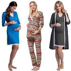 Happy Mama. Women's Maternity Nightie / Pyjamas /Robe SOLD SEPARATELY. 591p
