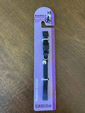 Cat Collar~Fashion~Ever Pet ~ Adjustable Fit ~ Black ~ FREE SHIPPING!