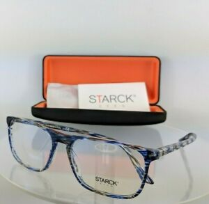 New Authentic STARCK EYES SH 3026 0019 56mm Translucent Blue Frame SH3026 PL