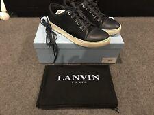 Lanvin Toe Capped Low Cut Sneakers Navy Blue Sz 8 42